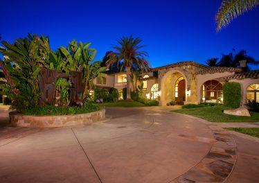 Del Rayo Estates Home, Rancho Santa Fe Front Exterior