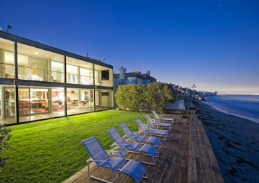 Back Exterior and Deck of Malibu Colony Beach Home