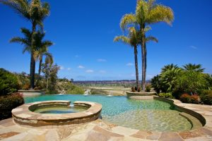 Backyard Swimming Pool in Rancho Santa Fe
