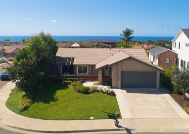 Spinnaker Hill Home in Carlsbad with Ocean Views Exterior Front